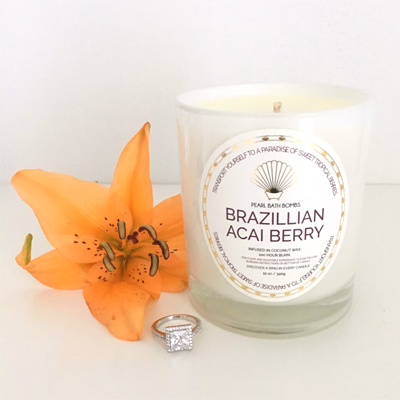 Brazilian Acai Berry & Pomegranate Coconut Ring Candle