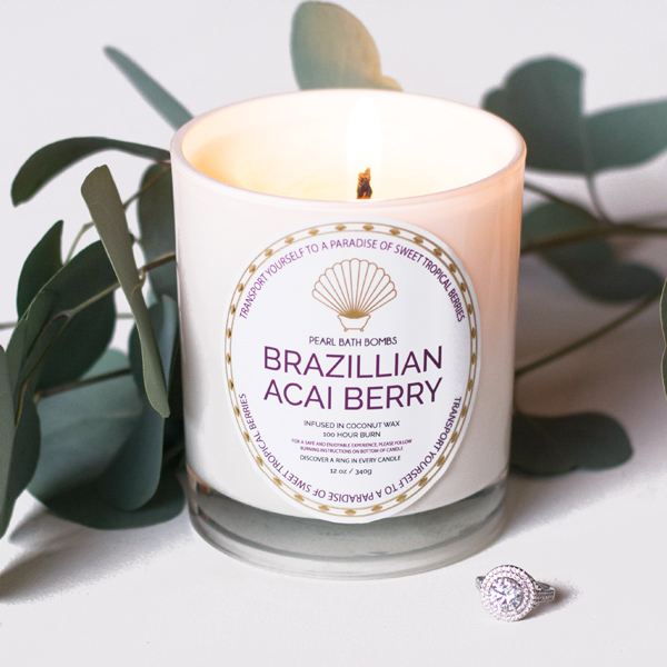 Brazilian Acai Berry Coconut Ring Candle