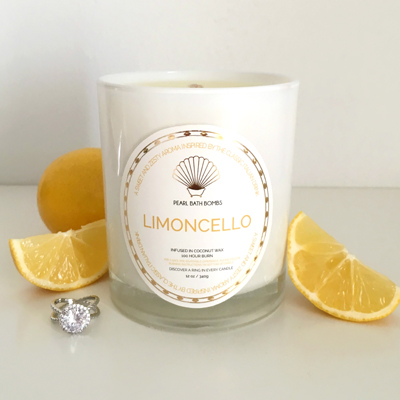 Limoncello Coconut Ring Candle