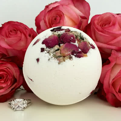 Morning Rose Ring Bath Bomb pack of 1 Pearl Bath Bombs