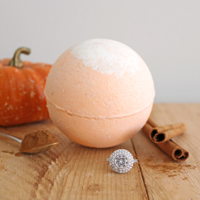 Pumpkin Spice Latte Ring Bath Bomb Pack Of 1 Pearl