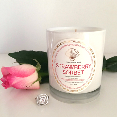 Strawberry Sorbet Coconut Ring Candle