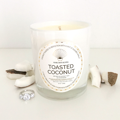 Toasted Coconut Ring Candle
